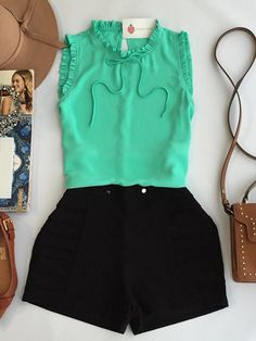 Look super lindo tbm Crop Top Outfits, Basic Outfits, Short Outfits, Spring Outfits, Short Dresses, Casual Dresses, Casual Outfits, Cute Outfits, Girl Fashion