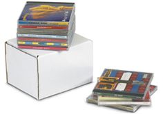 Our wholesale 5 x 4 x Outside Tuck CD Jewel Case Corrugated Mailer - Holds 10 CD's Count) are industry standard. Outside tuck won't interfere with contents