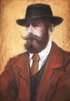 József Rippl-Rónai (Hungarian, 1861-1927), Portrait of Lajos Kunffy, 1907. Pastel on paper, 60 x 50cm. Private collection.