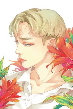 "Fan art of Kim Jong-dae (김종대) also known mononymously as Chen (첸) of EXO (엑소) from their ""Ko Ko Bop"" comeback. 