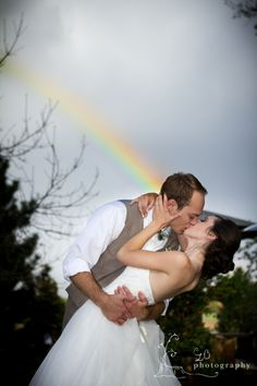 Love the rainbow! | Tapestry House Wedding and Event Center in CO | Photo by CLB Photography