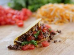 Get Beef Tacos Recipe from Food Network