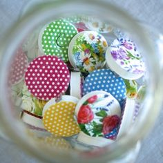 From the Bohin range of haberdashery comes this lightweight, retractable tape measure with a lovely smooth motion and it is made to last.  Just perfect for the sewing kit, or to throw in your purse or pocket when heading out to the fabric shop.    Retracts easily with a push of a button.   150cm maximum length - inches on one side, centimetres on the other.    Available in Daisy, Yellow Rose, Pink Rose, and Purple Bouquet.    Also available in dots and black and white designs.  Made in…
