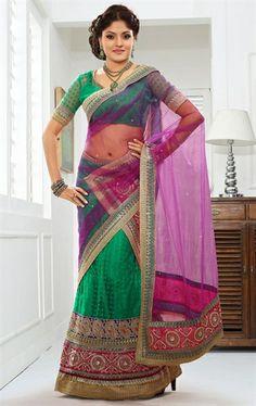 Picture of Delicate Emerald Green Fashion Designer Lehenga Choli