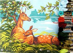 NEEDLEPOINT KITS//Mother Deer & baby by Royal
