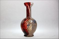 Antique Bohemian Harrach Art Glass Red White by SummitAntiqueCup
