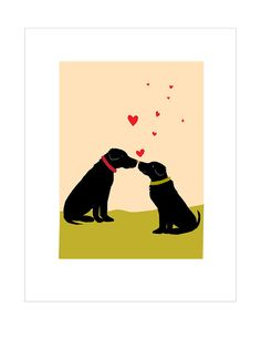 Labradors Valentine floating hearts greeting card collection vivid color, printed by me on matte photo paper, trimmed then mounted to nice heavy card stock. folded, 5 x 7 inches, blank inside with envelopes 4 to the set mix and match other designs just ask thanks Dale