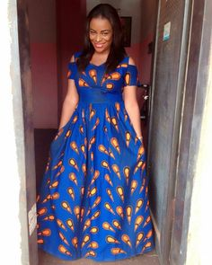 Every fashionable lady would love to be seen in the Latest Ankara Gown Styles. The creativity of Nigerian fashion designers brings hundreds of Ankara styles to life. Long African Dresses, Latest African Fashion Dresses, African Print Dresses, African Print Fashion, Ankara Fashion, Ankara Maxi Dress, Ankara Dress Styles, Ankara Gowns, Nigerian Ankara Dresses