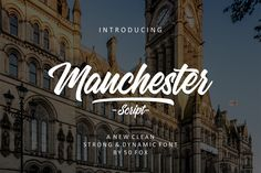 Buy Manchester Script - Off This Month by on GraphicRiver. Manchester Script is a handlettering font that comes with charming identity. This font also has great movement with c. Hand Lettering Fonts, Script Fonts, All Fonts, Handwritten Fonts, Lettering Design, Manchester Home, Brush Font, Beautiful Fonts, Script Type