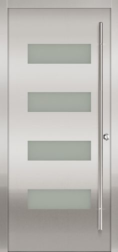 Contemporary front door from Milano Doors.