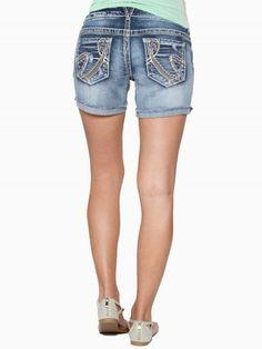 Sasha Orange Stitch Premium Jean Shorts #vanity #fashion #womens #womensfashion #womensapparel #spring2014 #denim #shorts