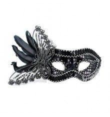 MASCARA VENECIANA ACABADO NEGRO PLUMAS Brooch, Belt, Accessories, Jewelry, Halloween, Color, Fashion, Costumes, Venetian Masks