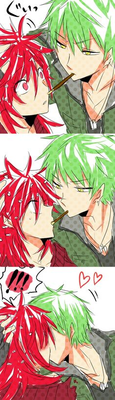 Happy Tree Friends, Flaky, Flippy, Kiss On The Lips, Dog Tags, Pocky Game