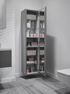 Geberit's new Xeno² colourway offers homeowners an even greater variety of luxury storage solutions and sleek ceramics, from vanity units to tall cabinets, creating a clean, chic sanctuary in the bathroom Relaxing Bathroom, Bathroom Inspo, Bathroom Ideas, Tall Bathroom Storage Cabinet, Little Bit, Bathroom Collections, Modern Bathroom Design, Minimalism, Storage Solutions