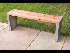 DIY Modern Concrete and Redwood Bench Tutorial – Best Concrete Products Videos