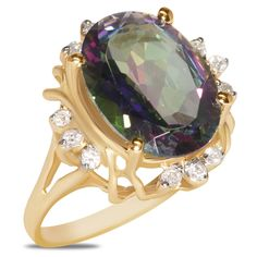 1/5cttw with Mystic Topaz Ring in 10k Yellow Gold - Jewelry Deals 80% OFF + $25 OFF extra discount on purchases $500 & UP ! Enter PINPROMOT coupon at CHECKOUT to get $25 OFF when you place your order @ NissoniJwelry.com