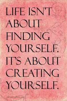 Create yourself #quote #printable brassyapple.com