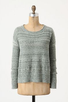 Pretty green pullover sweater from Anthropologie