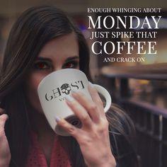 Increase the caffeine hit people!  #ghostcoffee #coffee #cappuccino #espresso #doubleespresso  #blast #hit #buzzing #tired #mondaymorning #mondaymotivation #lovemybed #coffeemornings #vodka  #vodkaghost #drinks #drinkstagram