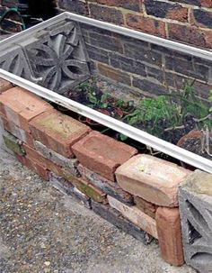 how to build a cold frame from old windows