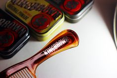 A handle comb to start the day from the folks at kingbrown #pomade in #tortoise or #black. pomade.com