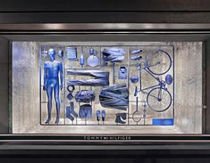 Artistic window display in Rome and Milan, La Rinascente - Fabio Novembre for Tommy Hilfiger l #fashion