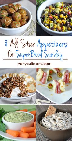 8 All-Star Appetizers for SuperBowl Sunday