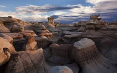 Reason to go on Route 66 roadtrip: Bisti Badlands, New Mexico. One of the great reasons to go on a roadtrip - seeing all the unique landscapes our country has