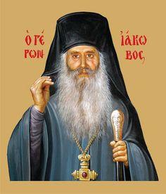 elder Iakovos of Evia_Старец Иаков (Тсаликис) Saint Barbara, Life Of Christ, Jesus Christ, Orthodox Christianity, Orthodox Icons, Christian Art, History, Contours, Cyprus