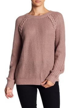 Braided Knit Sweater by Abound on @nordstrom_rack