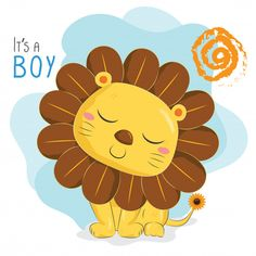 León de girasol Cartoon Pics, Cute Cartoon, Mother Art, Belly Painting, Clay Baby, Baby Album, Kids Prints, Stuffed Animal Patterns, Cute Images
