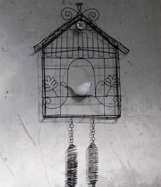 New design for CUCKOO in wire  Made to order by Debeauxsouvenirs, $170.00