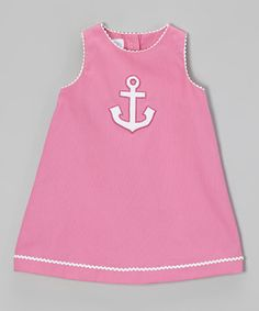 Love this Raspberry Anchor Swing Dress - Infant, Toddler & Girls by Betti Terrell on #zulily! #zulilyfinds