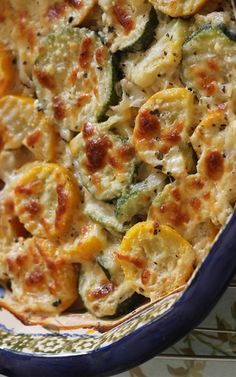 Zucchini & Squash Au Gratin: 2 Tbsp Butter, 1 large Zucchini sliced, 1 large Summer Squash sliced, 2 Shallots minced, 1 tsp Garlic {fresh or powder; NOT garlic salt!}, ½ cup heavy Cream, Shredded Cheese {mozzarella or provolone}, Sea Salt & Pepper to taste, Sprinkle of Oregano, Parmesan Cheese to taste | The Rebel Foodie