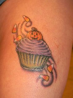 Halloween cupcake tattoo