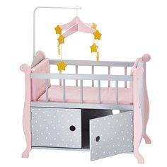 Olivia's Little World - Baby Doll Furniture - Nursery Crib Bed with Storage (Gray Polka Dots) : Target Baby Doll Bed, Baby Doll Nursery, Baby Doll Toys, Baby Alive Dolls, Baby Nursery Bedding, Crib Bedding, Princess Baby Dolls, Princess Nursery, Baby Doll Furniture