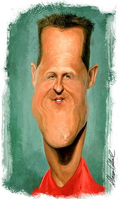Caricatura Michael Schumacher by Alvaro Cabral, via Flickr