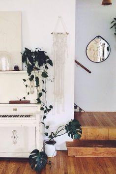 Piano | Plants | Macrame