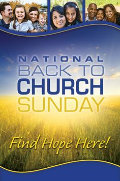 It is our hope you will join us, with a friend, to make a difference onBack To Church Sundayon September 8th!  Come and invite a friend for a spectacular day of food, fellowship, new faces and ministry opportunities!