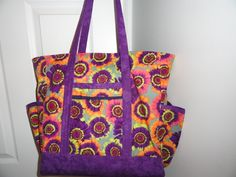 Professional tote.  Colorful bag.  Peace, Robert from nancysfabrics.com