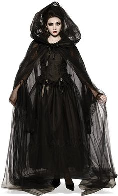 """HALLOWEEN SPOOKTACULAR 45/"""" BLACK CAPE,ONE SIZE FITS ALL"""