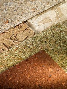 Material: Revestimientos decorativos. Fabricante: organoid Technologies. C OMPOSICIÓN: hojas, tallos, flores y hierba. Fotografía por P aul Godwin.