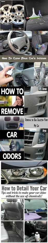 21 Excellent DIY Car Cleaning Tips & Hacks CONTINUE:…