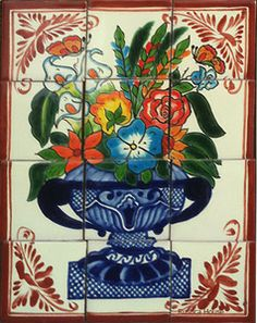 mexican talavera tile mural More Pins Like This At FOSTERGINGER @ Pinterest