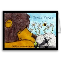 Lion and Lamb Gentle Peace Cards