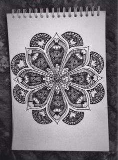 Mandala Pattern of black & white Color