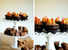 Campfire cupcakes / camping party