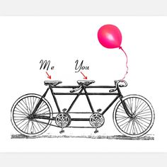 When two people in love come together, they can move mountains. Or tandem bikes. Same thing.