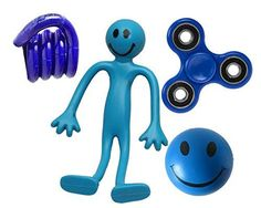 Blue Premium Fiddle Kit by StressCHECK featuring the popular SPINNER .   These Fiddle Kits are perfect for stress relief or for ADHD and Autism. They contain our most popular stress relief products t...