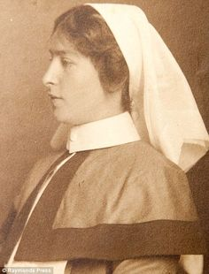 Violet Gossett, who served as a nurse during the First World War in France, pictured in uniform